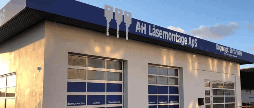 Værksted hos A/H Låsemontage i Kalundborg